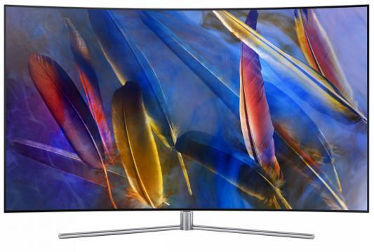 Телевизор Samsung QE55Q7CAMUXRU черный телевизор samsung ue40j5200au