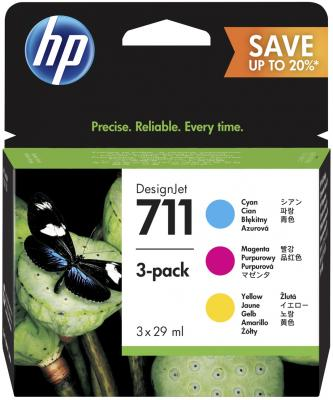 Картридж HP 711 P2V32A для HP DJ T120/T520 цветной for hp711 refillable ink cartridges for hp printer t120 t520 with arc chips free shipping on high quality