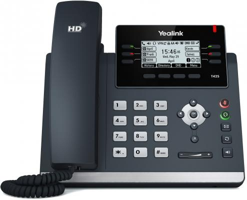Телефон IP Yealink SIP-T42S 12 SIP-аккаунтов 2x10/100/1000Mbps 2.7 LCD PoE BLF BLA футболка классическая printio bla bla car