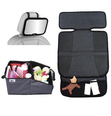 Комплект аксессуаров в автомобиль Altabebe (зеркало на спинку/защитный коврик на сиденья/органайзер для автокресла)