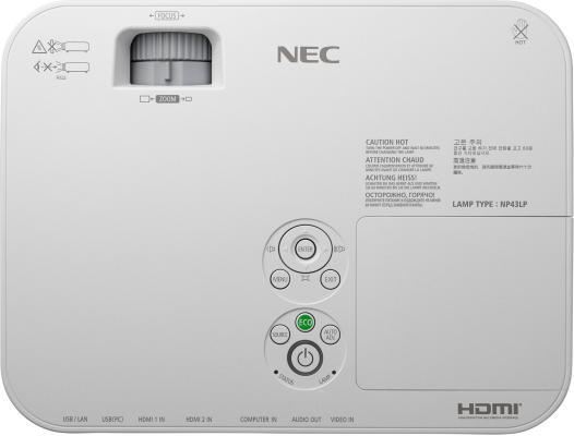Проектор NEC ME361X 1024x768 3600 люмен 12000:1 белый от 123.ru