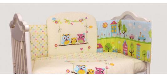 Постельный сет 7 предметов Bombus Family (бежевый) карман на кроватку bombus светик розовый