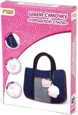 Набор для творчества Color Puppy Шьем сумочку Городской стиль от 5 лет 95198 наборы для творчества color puppy набор для творчества шьем сумочку лазурная волна
