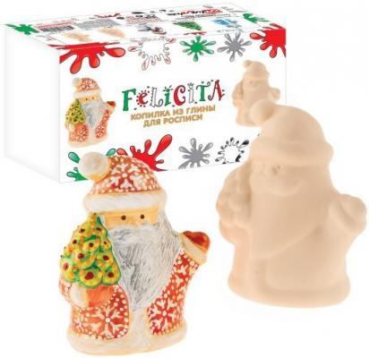 Набор для росписи по керамике FELICITA Копилка Дед Мороз от 5 лет 282609b