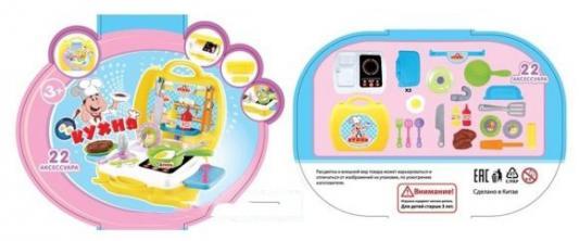 Купить Игровой набор Shantou Gepai Кухня в чемоданчике 22 предмета 2100, унисекс, Игровые наборы Маленькая хозяйка
