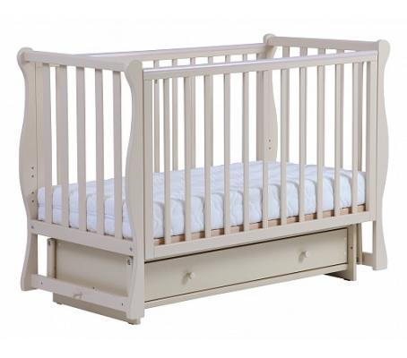Кроватка с маятником Кубаночка-4 БИ 40.2 (слоновая кость) кроватка с маятником sweet baby eligio avorio слоновая кость