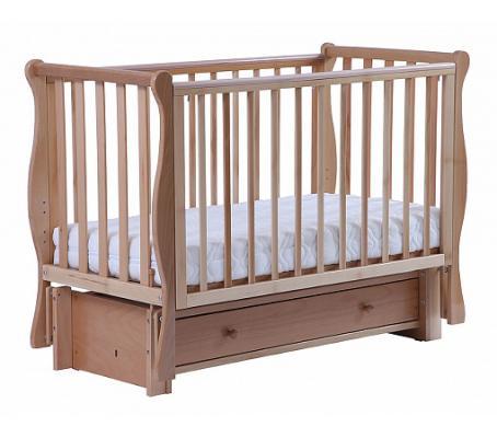 Купить Кроватка с маятником Кубаночка-4 БИ 41.3 (натуральный бук), Кроватки с маятником
