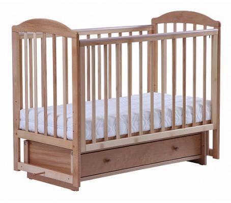 Купить Кроватка с маятником Кубаночка-5 БИ 41.2 (натуральный бук), Кроватки с маятником