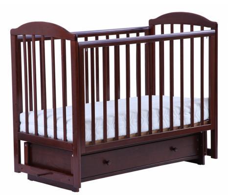 Купить Кроватка с маятником Кубаночка-5 БИ 41.2 (орех темный 35), бук, Кроватки с маятником