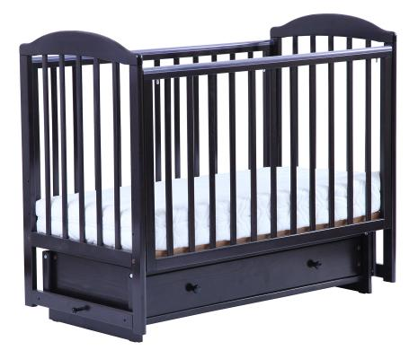 Кроватка с маятником Кубаночка-5 БИ 41.2 (венге)