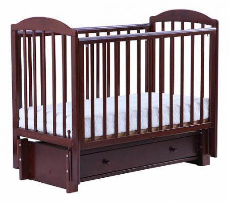 Купить Кроватка с маятником Кубаночка-5 БИ 41.3 (орех темный 35), бук, Кроватки с маятником