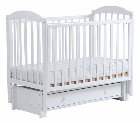 Купить Кроватка с маятником Кубаночка-5 БИ 41.3 (белый), бук, Кроватки с маятником