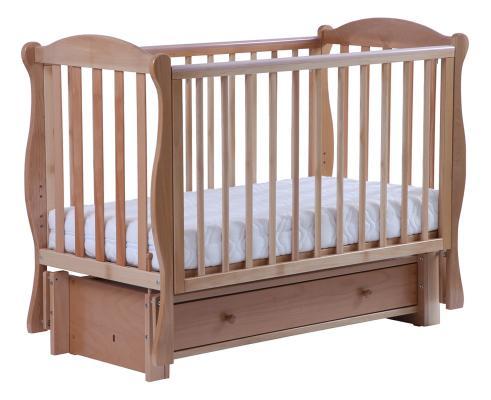 Купить Кроватка с маятником Кубаночка-6 БИ 42.3 (натуральный бук), Кроватки с маятником