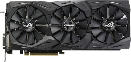 Фото Видеокарта 8192Mb ASUS RX580 PCI-E DVI HDMI DP HDCP ROG-STRIX-RX580-O8G-GAMING Retail pci e to