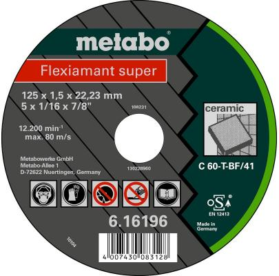 Отрезной круг Metabo Flexiamant S 125x1.5 прям С60Т 616196000
