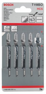 Лобзиковая пилка Bosch T 119 BO 5шт 2608630310 цена 2017