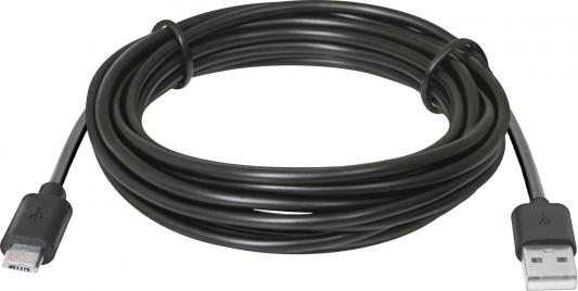 Кабель USB 2.0 AM-microBM 3.0м Defender USB08-10BH черный 87469
