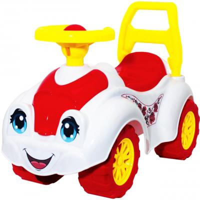 Каталка-машинка ТехноК Автомобиль для девочек 3503 разноцветный от 1 года пластик