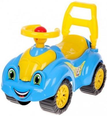 Каталка-машинка ТехноК Автомобиль для прогулок желто-голубой от 1 года пластик 3510 каталка машинка r toys bentley пластик от 1 года музыкальная красный 326