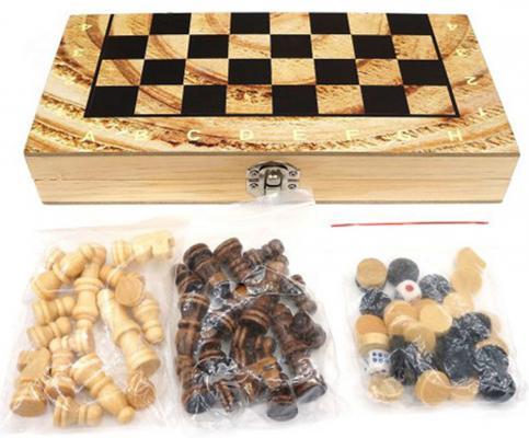 Купить Напольная игра набор игр Shantou Gepai Шахматы, шашки, нарды 3в1 W4018-H, Размер поля: 40 х 40 см, Лото, домино, шашки и шахматы