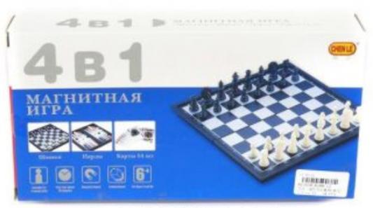 Напольная игра набор игр Shantou Gepai Шахматы, шашки, нарды, карты 4 в1 8188-12