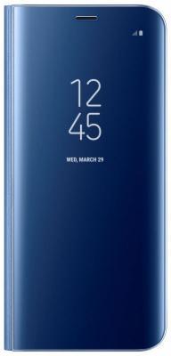 Чехол Samsung EF-ZG955CLEGRU для Samsung Galaxy S8+ Clear View Standing Cover голубой samsung ef zg950c clear view standing чехол для galaxy s8 black