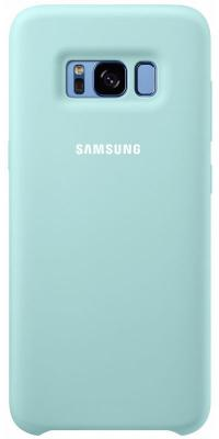 Чехол Samsung EF-PG955TLEGRU для Samsung Galaxy S8+ Silicone Cover голубой аксессуар чехол samsung galaxy s8 plus silicone cover purple ef pg955tvegru