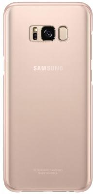 Чехол Samsung EF-QG955CPEGRU для Samsung Galaxy S8+ Clear Cover розовый/прозрачный чехол клип кейс samsung protective standing cover great для samsung galaxy note 8 темно синий [ef rn950cnegru]