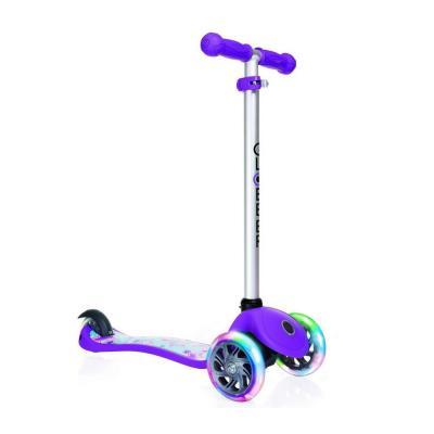 "Самокат Y-SCOO GLOBBER PRIMO Fantasy STARS Violet Neon Purple 424-014 12""/8"" фиолетовый"