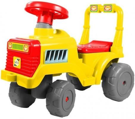 Каталка-трактор R-Toys ОР931к красно-желтый от 10 месяцев пластик