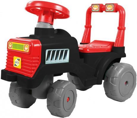 Каталка-трактор R-Toys ОР931к черно-красный от 10 месяцев пластик