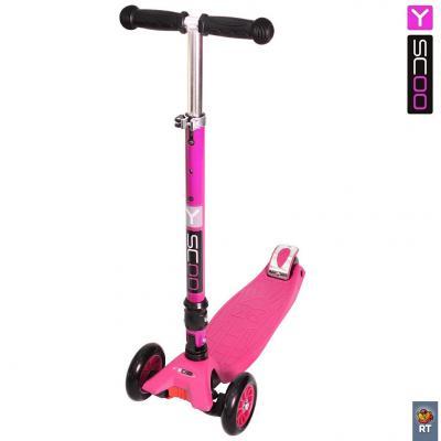 Купить Самокат Y-SCOO 35 MAXI FIX Simpl розовый, Трехколесные самокаты для детей