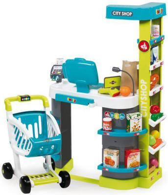 Игровой набор SMOBY City Shop - Супермаркет свет, звук, 350207 smoby набор из 2 х машинок