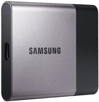 """Внешний жесткий диск 1.8"""" USB3.0 250Gb Samsung Portable SSD T3 серебристо-черный MU-PT250B/WW"""
