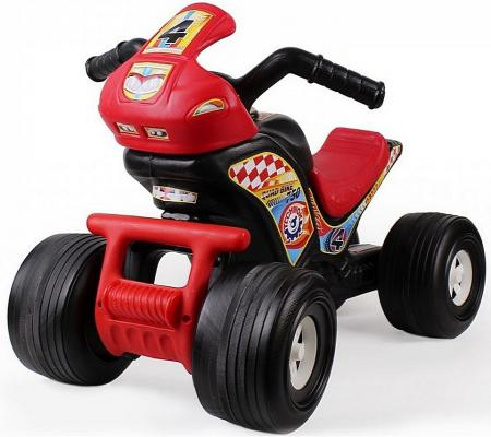 Каталка-машинка Rich Toys Квадроцикл ТЕХНО черно-красный 4104