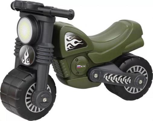 Каталка-мотоцикл Wader Моторбайк военный зеленый от 18 месяцев пластик