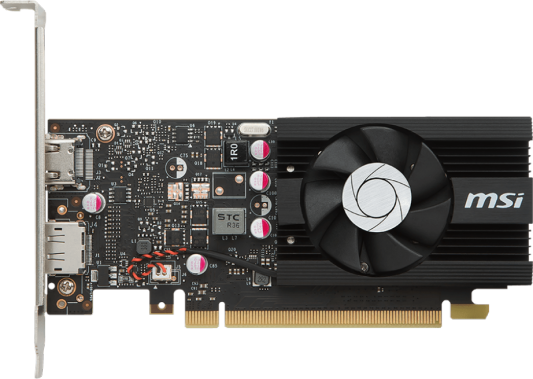 Видеокарта 2048Mb MSI GeForce GT1030 PCI-E GDDR5 64bit HDMI DP HDCP GT 1030 2G LP OC Retail монитор msi