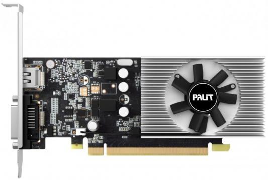 Видеокарта 2048Mb Palit GeForce GT1030 PCI-E DDR5 64bit DVI HDMI HDCP PA-GT1030 2GD5 NE5103000646-1080F Retail видеокарта 6144mb msi geforce gtx 1060 gaming x 6g pci e 192bit gddr5 dvi hdmi dp hdcp retail