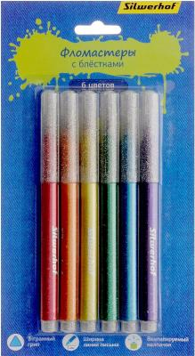 Набор фломастеров Silwerhof Джинсовая коллекция 3 мм 6 шт разноцветный 867213-06