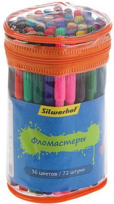 Набор фломастеров Silwerhof Джинсовая коллекция 1 мм 72 шт разноцветный 867204-36