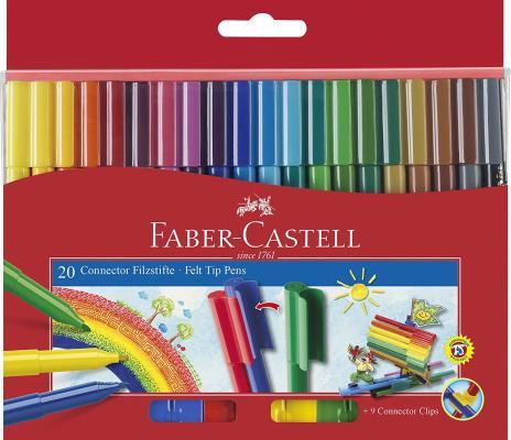 Набор фломастеров Faber-Castell 155520 20 шт разноцветный