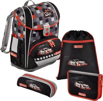 Ранец с наполнением Step by Step Light2 Racer 4 18 л черный серый красный 138512