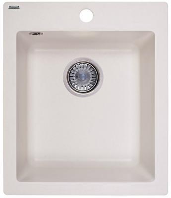 Мойка Weissgauff QUADRO 420 Eco Granit белый  weissgauff quadro 420 eco granit графит