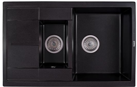 Мойка Weissgauff QUADRO 775K Eco Granit черный