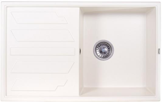 Мойка Weissgauff QUADRO 800 Eco Granit белый  мойка кухонная weissgauff classic 800 eco granit черный