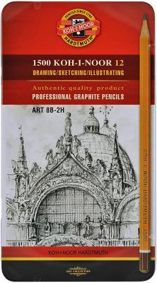 Карандаш графитовый Koh-i-Noor 1502 Art 12 шт 175 мм 1502012008PLRU