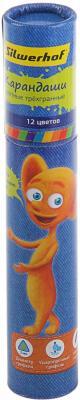 Набор цветных карандашей Silwerhof Джинсовая коллекция 12 шт 134200-12