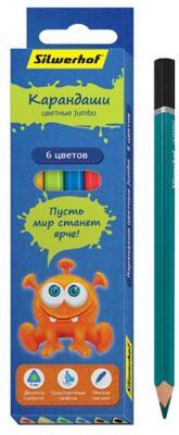 Набор цветных карандашей Silwerhof Джинсовая коллекция 6 шт 134203-06
