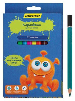 Набор цветных карандашей Silwerhof Джинсовая коллекция 12 шт silwerhof ручка гелевая набор 6шт джинсовая коллекция