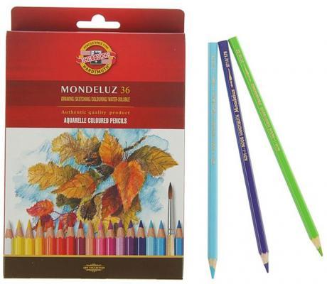 Набор цветных карандашей Koh-i-Noor Mondeluz 36 шт 175 мм 3719036001KZRU набор угольных карандашей koh i noor gioconda 3 шт